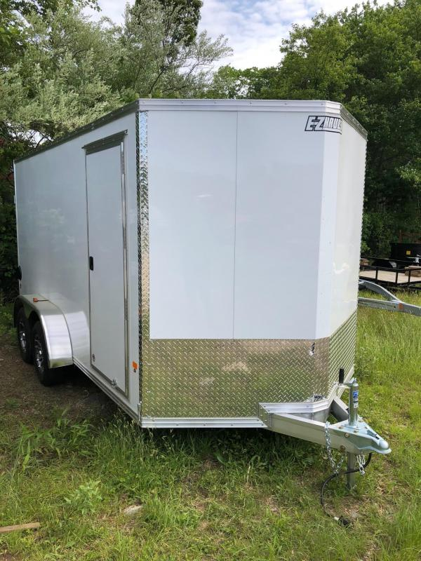 2018 EZ Hauler EZEC7X14 Enclosed Trailer w/ BARN DOORS - WHITE