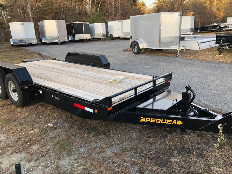2019 Pequea T-100 FULL TILT Equipment Trailer (12K)