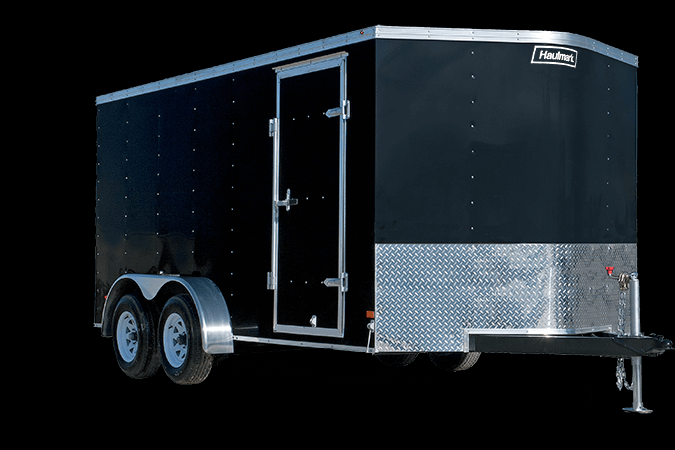 2019 Haulmark PASSPORT 6X10 Enclosed Cargo Trailer - w/ BARN DOORS - WHITE