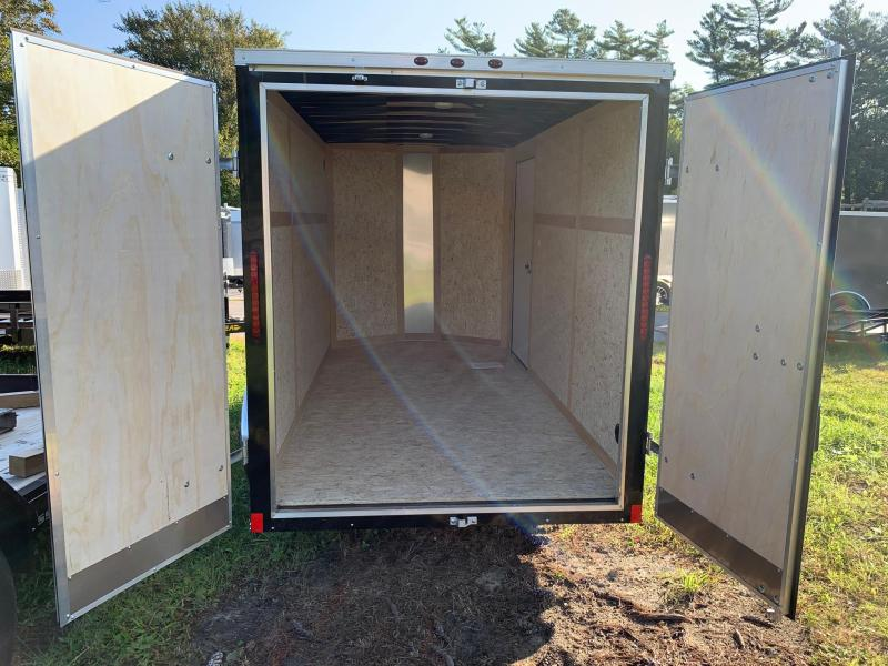 2019 Haulmark Transport 6x12 Enclosed Trailer w BARN DOORS - BLACK
