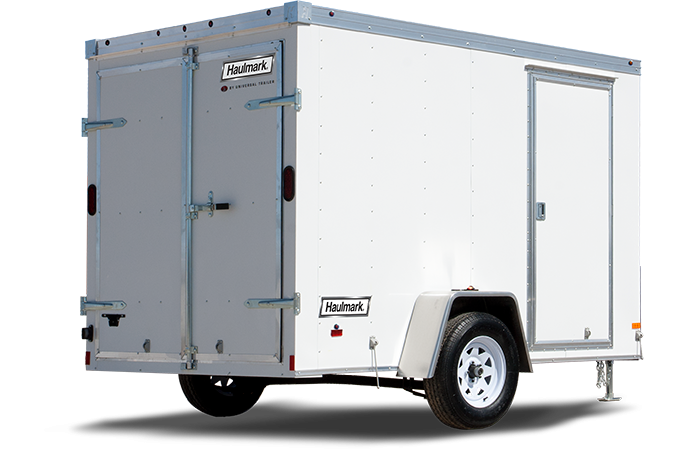 2019 Haulmark Transport 6x12 Enclosed Trailer w RAMP - WHITE