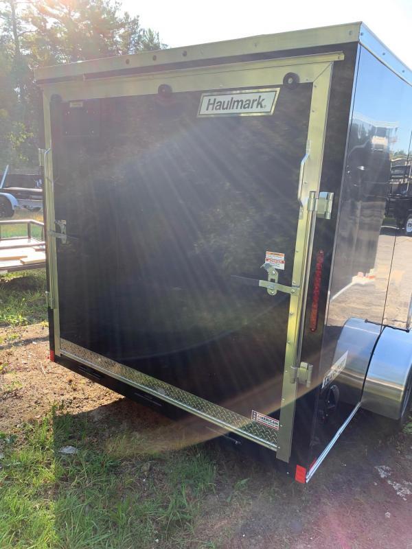 2019 Haulmark Transport 7X12S Enclosed Cargo Trailer w/ RAMP - BLACK