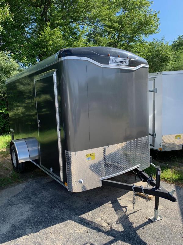 2019 Haulmark Transport 6X12 Enclosed Cargo Trailer w/ Ramp - Charcoal
