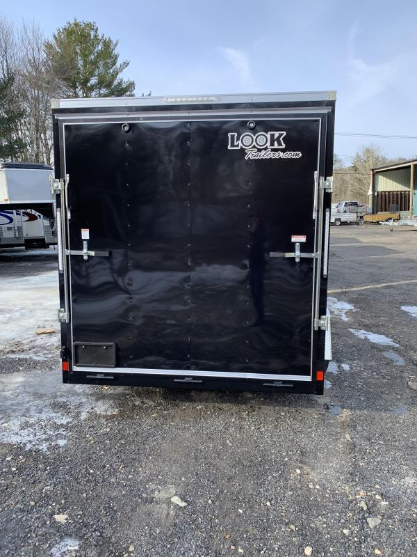 2020 Look Trailers Stlc Cargo Dlx 7X12 Cargo / Enclosed Trailer w/ RAMP -
