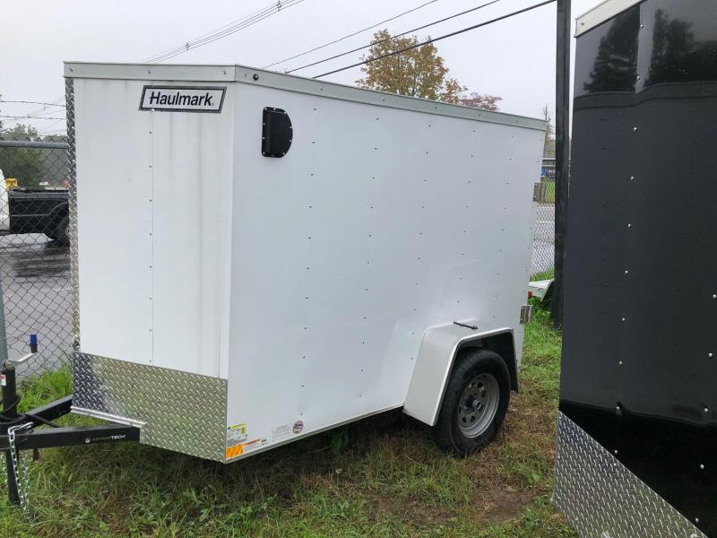 2019 Haulmark HMVG58S (3000 Trim Level) Enclosed Cargo Trailer w/ BARN DOORS - WHITE