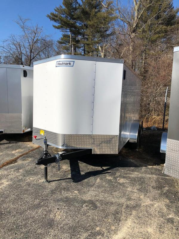 2019 Haulmark PP714 Enclosed Cargo Trailer - w/ RAMP - WHITE