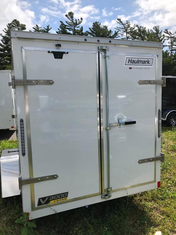 2019 Haulmark HMVG610S (3000 Trim Level) Enclosed Cargo Trailer w/ BARN DOORS - WHITE