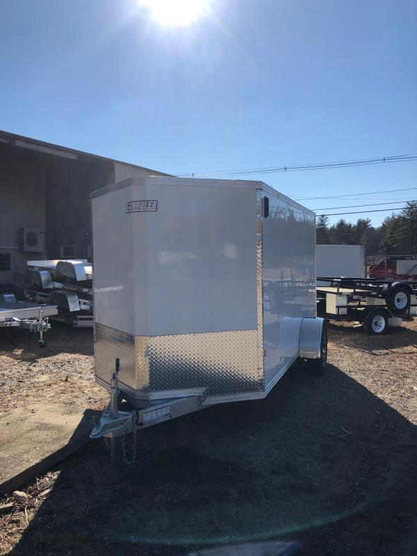 2019 EZ HAULER EZEC6X12 Enclosed Cargo Trailer w/ RAMP - WHITE