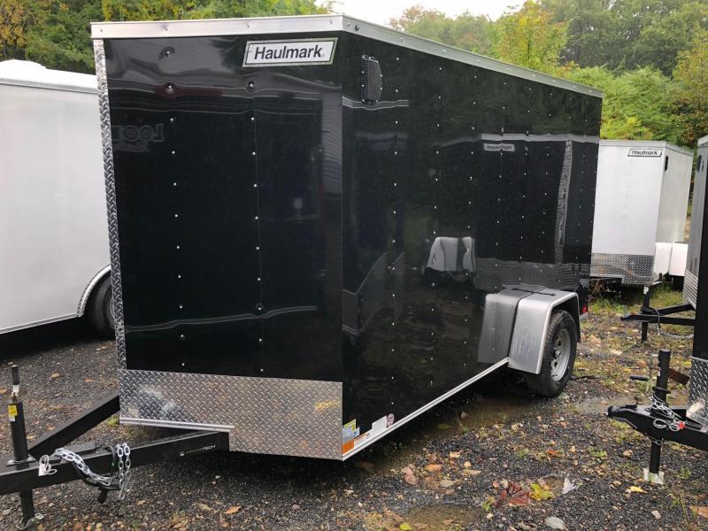 2019 Haulmark HMVG712S (3000 Trim Level) Enclosed Cargo Trailer w/ RAMP - BLACK