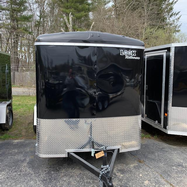 2019 Look Trailers 6X12 Round Top Cargo Dlx Cargo / Enclosed Trailer w/RAMP - Black