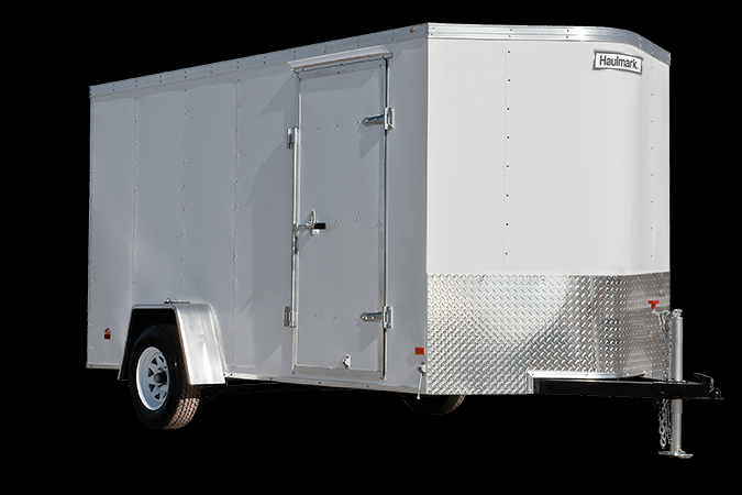 2019 Haulmark Passport 6x12 Enclosed Cargo Trailer w/ BARN DOORS - WHITE