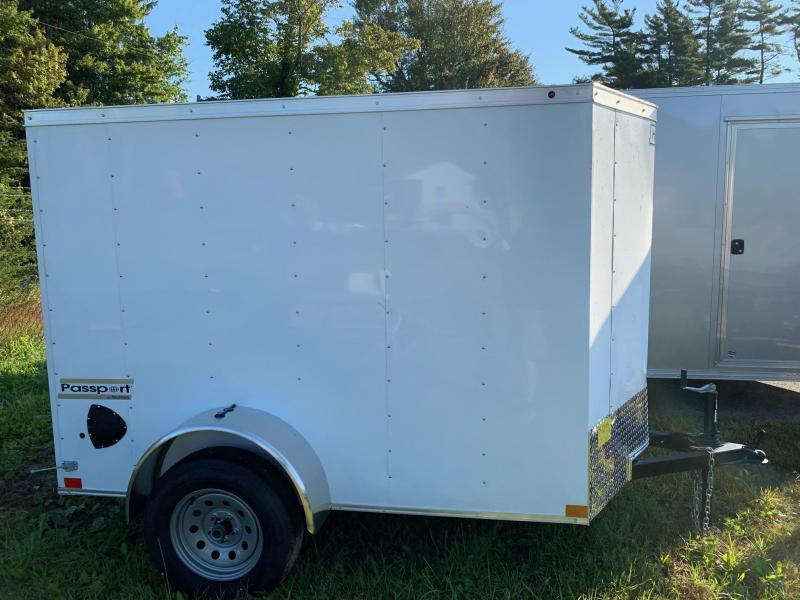 2019 Haulmark Passport 5X8 Enclosed Cargo Trailer w/ BARN DOOR - White
