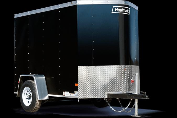 2019 Haulmark PPT5X8DS2 Enclosed Cargo Trailer w/ RAMP - White