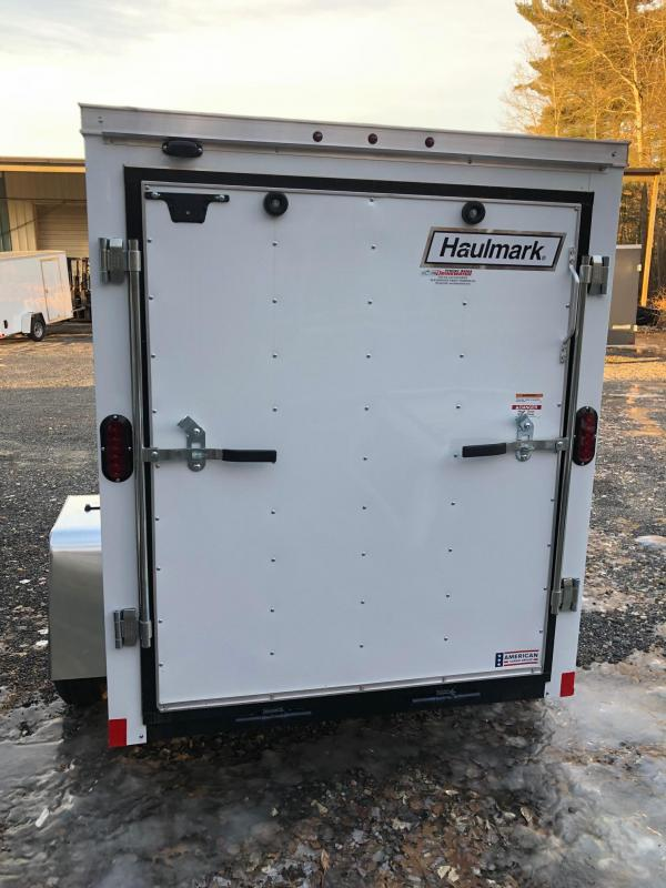 2019 Haulmark PPT5X8DS2 Enclosed Cargo Trailer w/ RAMP - White
