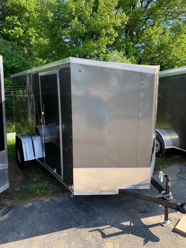 2020 Look Trailers 6X12 V-Nose Enclosed Trailer W/ Ramp - Charcoal