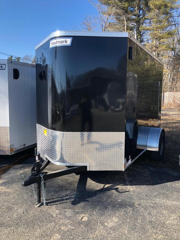 2019 Haulmark Transport 6X10 Enclosed Cargo Trailer w/ RAMP - BLACK
