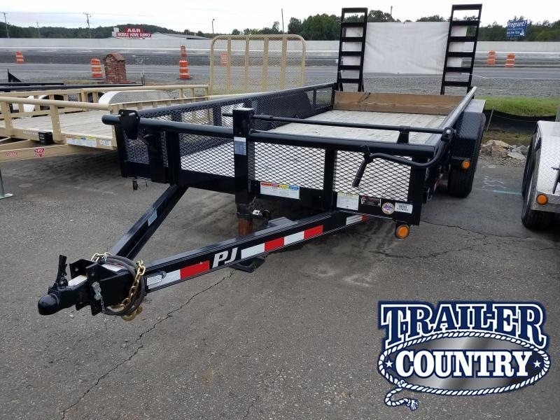 2018 PJ Trailers 83X16 ANGLE PIPETOP Equipment Trailer in Philipp, MS