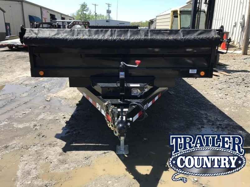 96x14 PJ Deckover Dump Trailer with Tarp-CLEARANCE