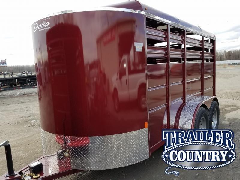 2018 Delta Manufacturing 14ft 500 ES BUMPER STOCK Livestock Trailer