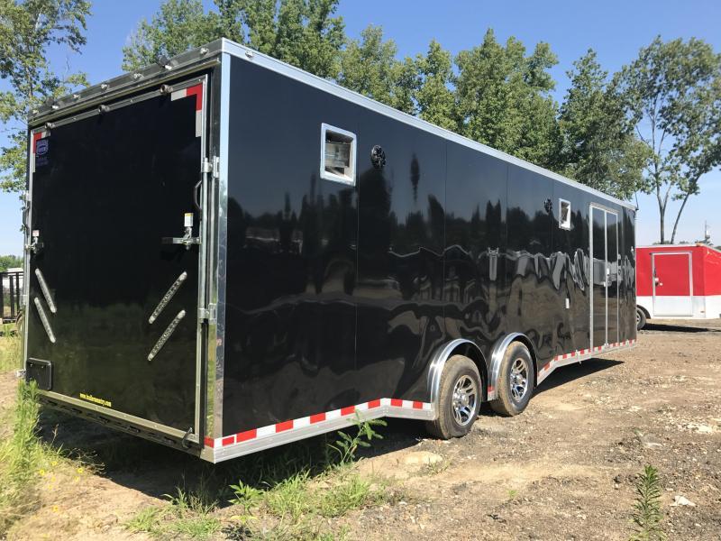 8.5x28 Spartan Enclosed Race Trailer