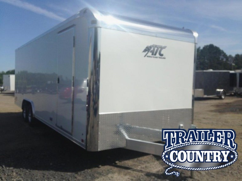 8.5x24 ATC All Aluminum Enclosed Race Car Trailer-CLEARANCE