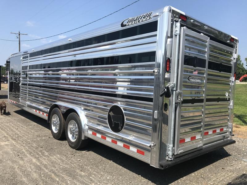 Cimarron 28' Stierwalt Signature Series With Front Tack Livestock Trailer