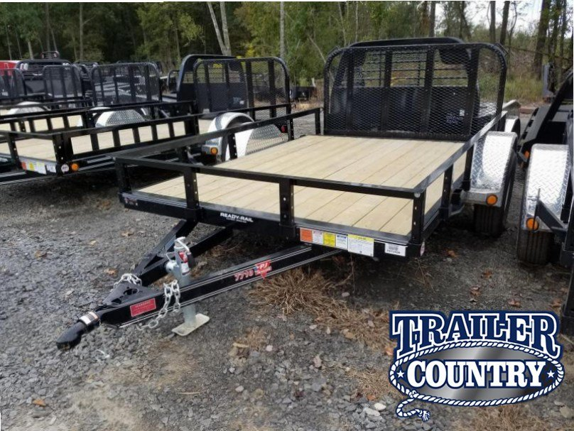 77x10 PJ Utility Trailer-2' Dovetail-3' Rear Gate