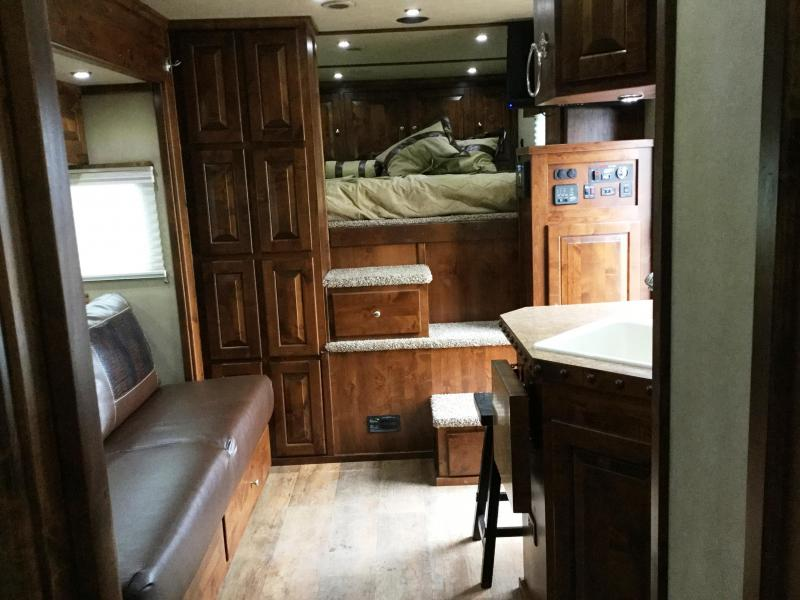 ***HUGE BLOWOUT!!!     2017 LOGAN COACH RAZOR 4 HORSE 812 PLATINUM LIVING QUARTERS WITH SIDE LOAD AND FULL REAR TACK