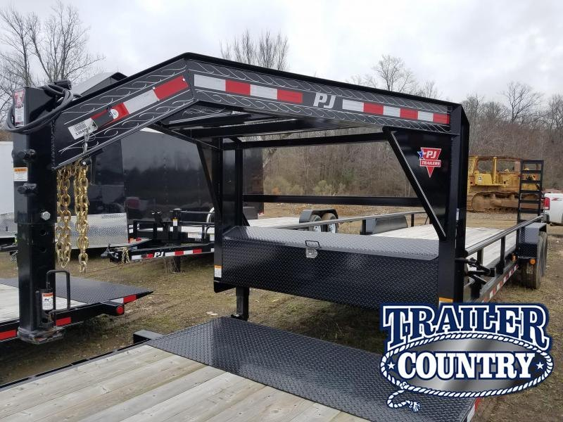 2019 PJ Trailers 83X24 GN Equipment Trailer in Briggsville, AR