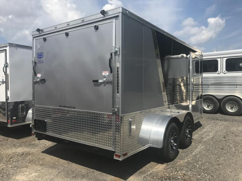***CLEARANCE***7x14 Enclosed Motorcycle Trailer-Finished Interior Package