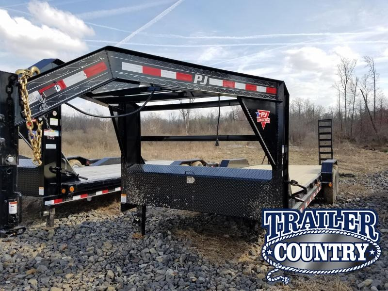 2018 PJ Trailers 83x24 GN Equipment Trailer in Philipp, MS