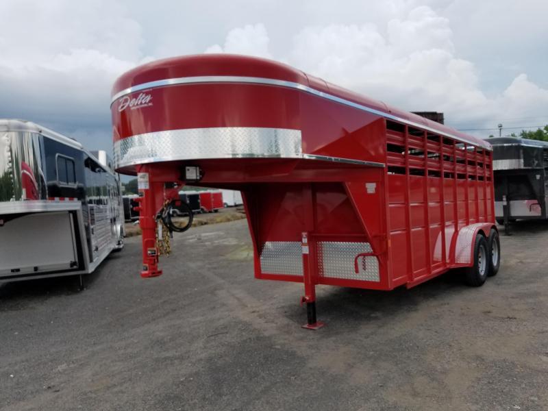2018 Delta Manufacturing 16ft 500 series GN Livestock Trailer