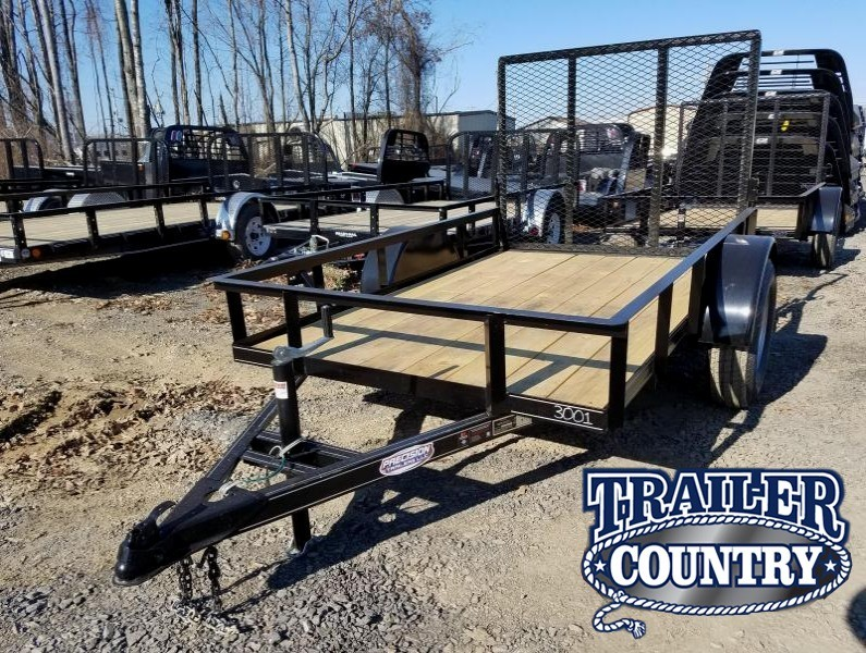 5x8 Precision Utility-3500lb Axles Rear Gate Spare Tire Mount