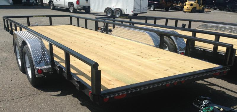 ***CLEARANCE***83x18 PJ Utility Trailer-Rear Ramps-Pipetop