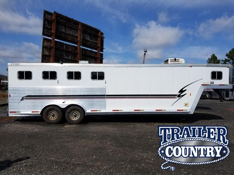 2001 Exiss Trailers XT408 4H GN Horse Trailer