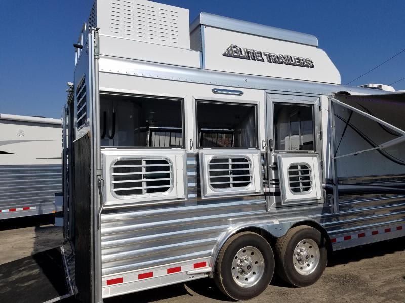 2017 Elite Trailers 3 HORSE LIVING QTRS. Horse Trailer