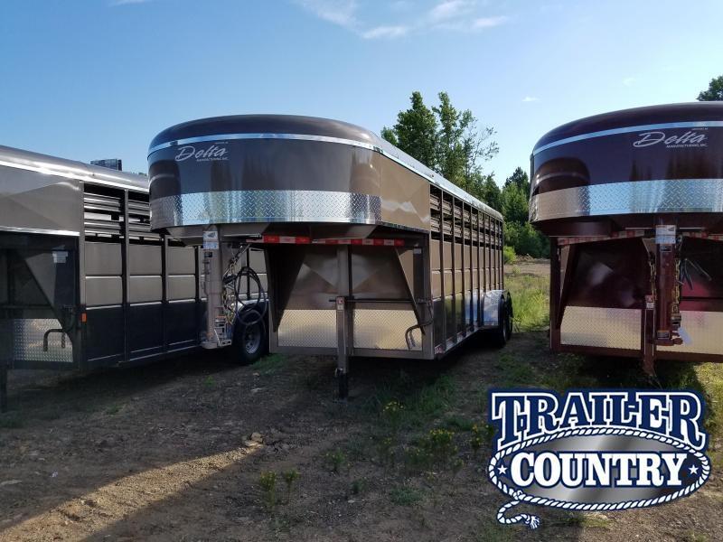 2018 Delta Manufacturing 20GN Livestock Trailer