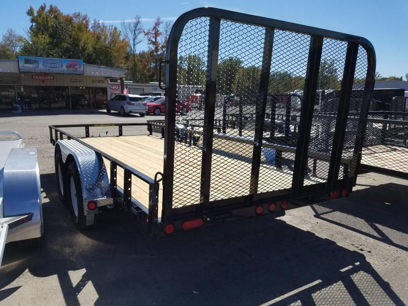 77x16 PJ Utility Trailer-Rear Gate