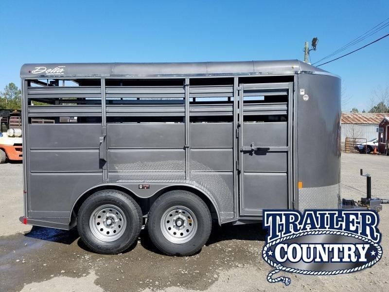 2018 Delta Manufacturing 14ft 500ES BP STOCK Livestock Trailer