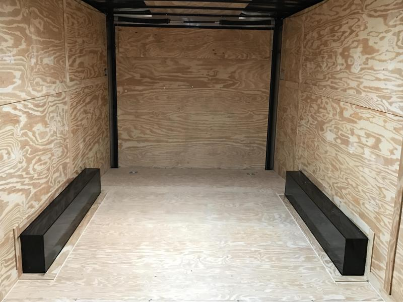 8.5x20 Enclosed Cargo Carhauler Trailer-5200lb Axles 7' height