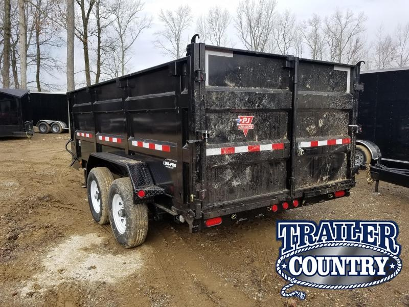 2020 PJ Trailers 83X14 LOW PRO HIGH SIDE Dump Trailer