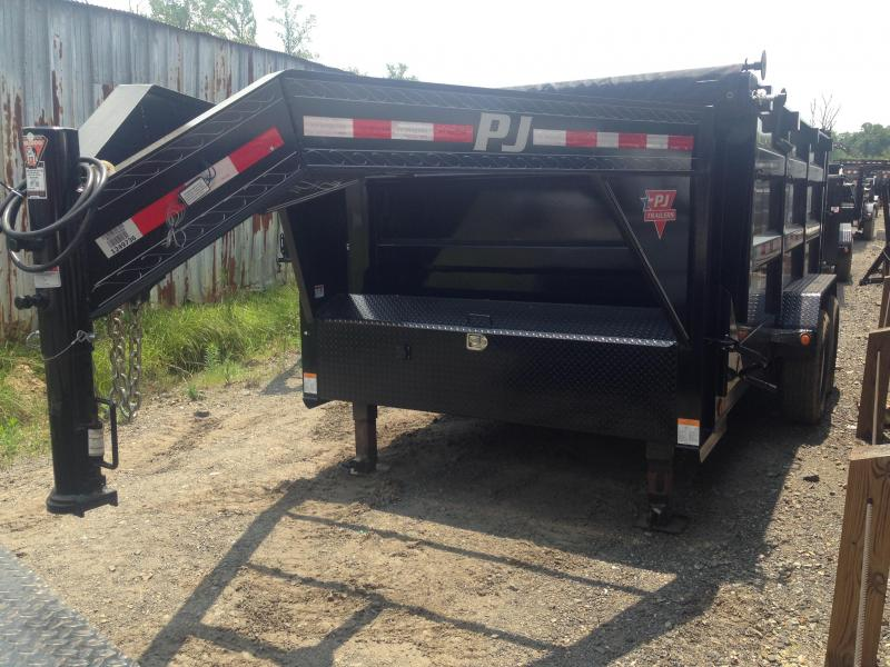 83X14 Gooseneck PJ High Side Dump-4' Sides-Tarp Included