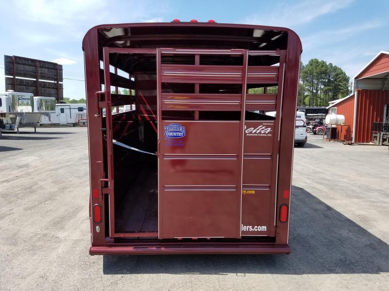 2018 Delta Manufacturing 14 2 HORSE BP Trailer