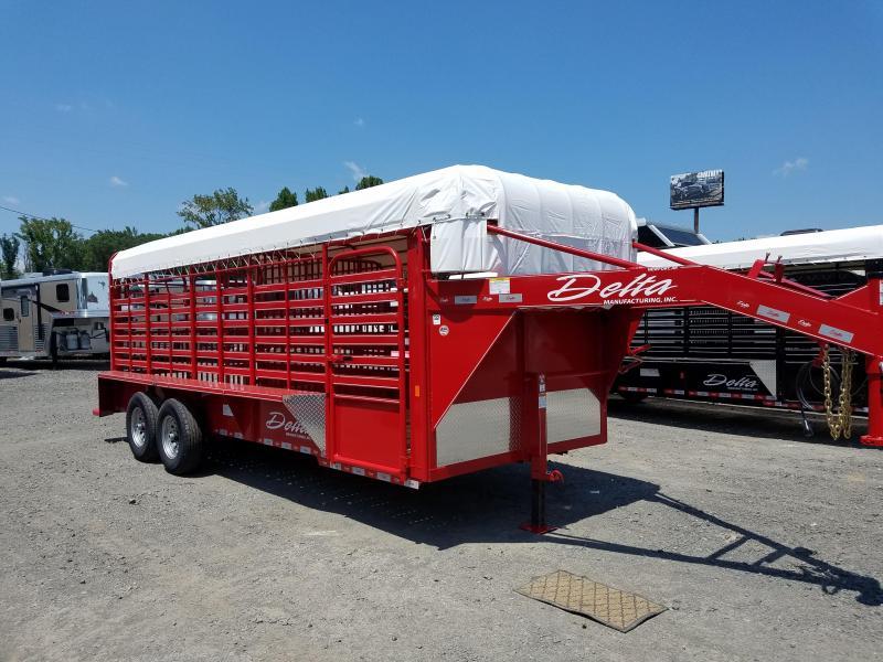 2018 Delta Manufacturing 600 CATTLEMAN Livestock Trailer