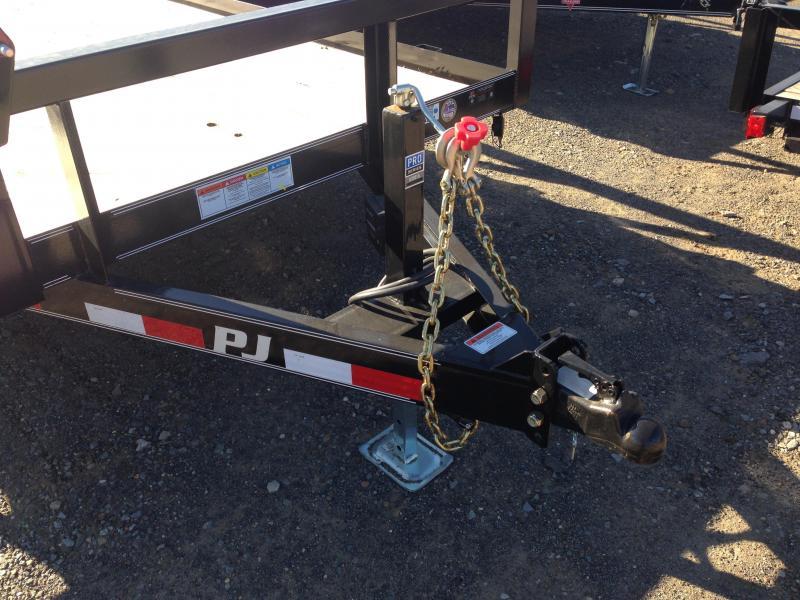 83x20 PJ Angle Pipetop Trailer-Slide In Ramps