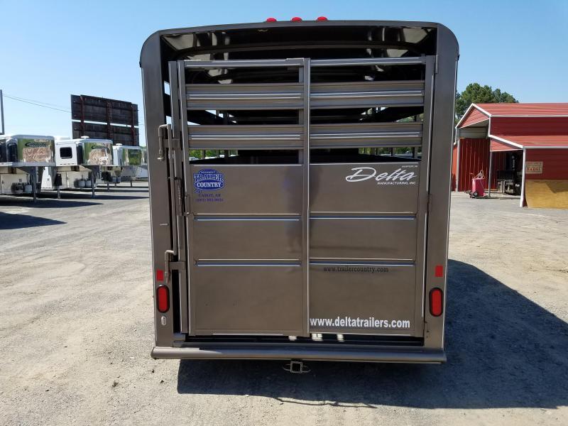 2018 Delta Manufacturing 16ft 500ES BP STOCK Livestock Trailer