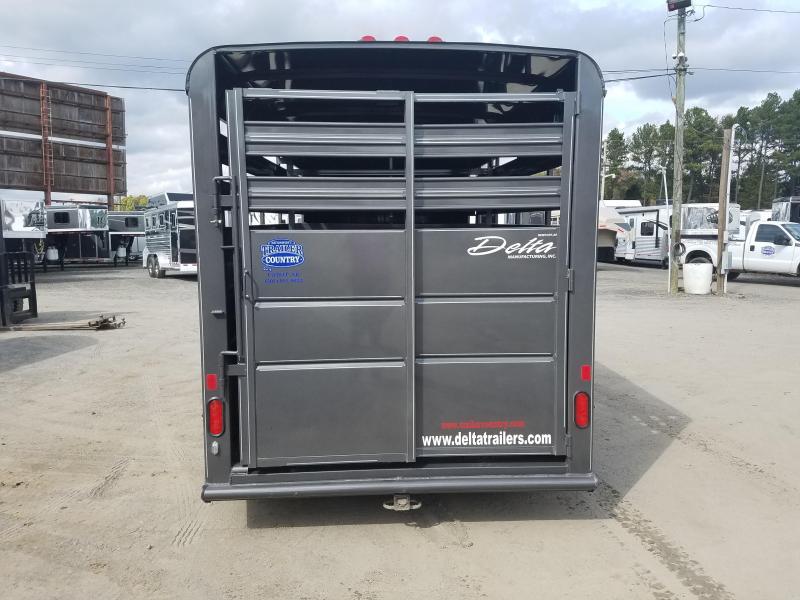 2019 Delta Manufacturing 16 BUMPER STOCK Livestock Trailer