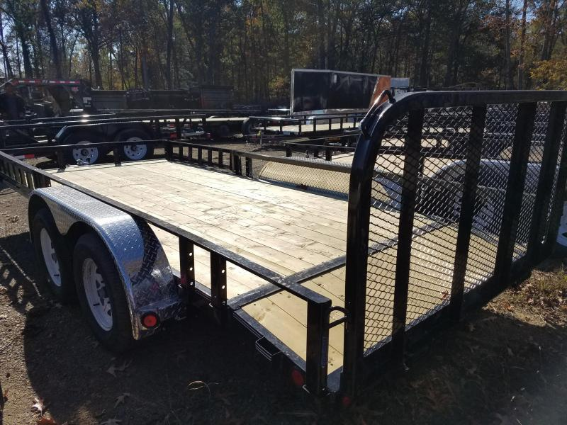 77x16 PJ Utility Trailer-3500lb Axles-2' Dovetail-3' Fold Up Gate