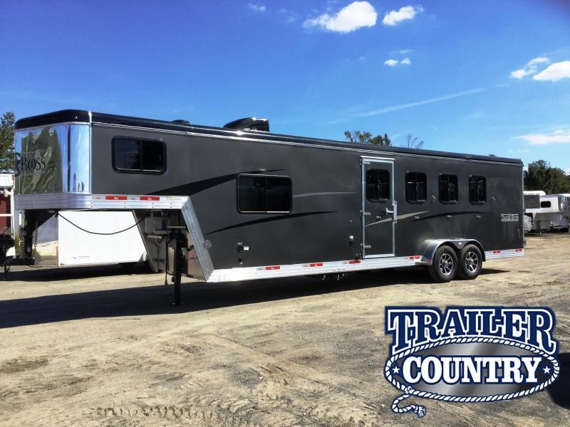 2018 Bison Trailers 2018 BISON 7409TB 4 HORSE TRAIL BOSS Horse Trailer