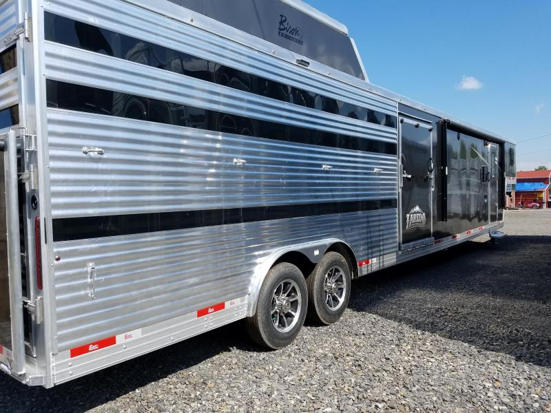 2019 Bison Trailers 8011LDSTLT LAREDO STOCK COMBO WITH 11 SHORT WALL Livestock Trailer